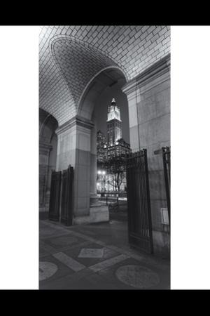 Woolworth Building Under Municipal Building Arch Panorama by Henri Silberman