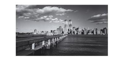 World Financial Center Clouds Shadows Panorama by Henri Silberman