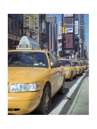 Yellow Cabs, Times Square, New York City 2 by Henri Silberman