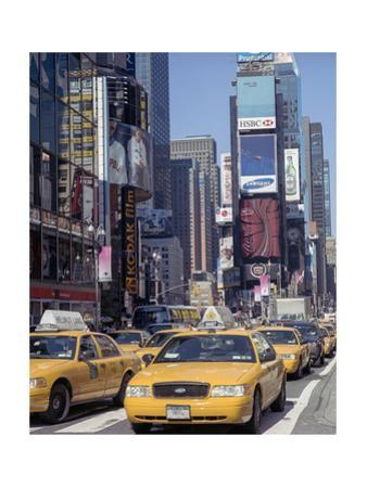 Yellow Cabs, Times Square, New York City 3 by Henri Silberman