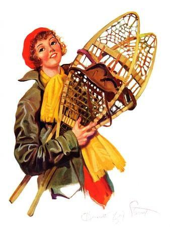 """""""Woman and Snowshoes,""""February 8, 1936"""