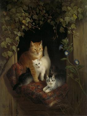 Cat with Kittens, Henritte Ronner by Henriette Ronner