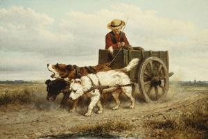 The Dog Cart by Henriette Ronner-Knip