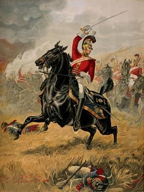Charge of the 1st Life Guards at Waterloo, 18 June 1815, C.1890 by Henry A. Payne