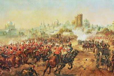 Charge of the Queens Bays Against the Mutineers at Lucknow, 6th March 1858