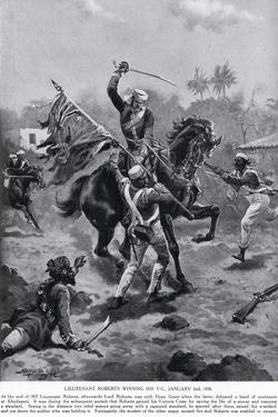 LT Roberts Winning His VC January 1858 by Henry A. Payne