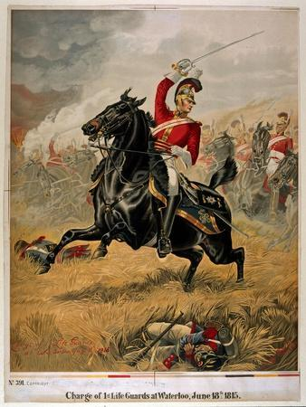 The Charge of the 1st Life Guards at Waterloo, Published C.1890