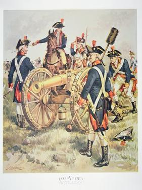 American Continental Army: Artillery Uniforms of 1777-83 by Henry Alexander Ogden