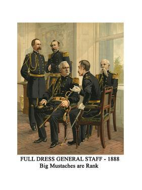 Full Dress General Staff - 1888 - Big Mustaches are Rank by Henry Alexander Ogden