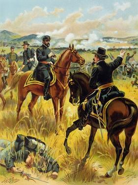 Major General George Meade at the Battle of Gettysburg on July 2nd 1863, 1900 by Henry Alexander Ogden