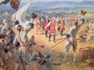 The Victory of Montcalms Troops at Carillon, 1758 by Henry Alexander Ogden