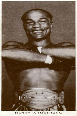 Henry Armstrong, American Boxer, 1938