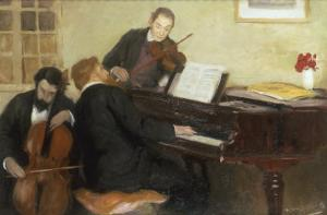 Trois Musiciens, c.1906 by Henry Caro-Delvaille