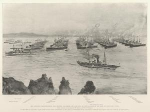 The Combined Mediterranean and Channel Squadrons in Lagos Bay by Henry Charles Seppings Wright