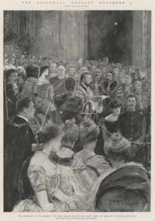 The Guildhall Banquet, 9 November by Henry Charles Seppings Wright