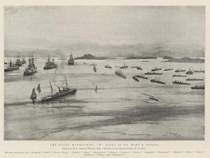 The Naval Manoeuvres, X Fleet at St Mary's, Scilly by Henry Charles Seppings Wright