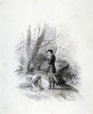 'Fitz-James and the dying Blanche of Devan', 19th century by Henry Corbould