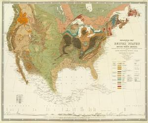 Geological Map of the United States, c.1856 by Henry Darwin Rogers