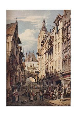 'Rue De La Grosse Horloge, Rouen', 1821