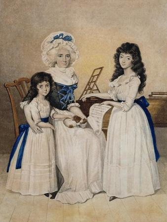 The Mansion of Peace: Mrs Campell and Her Two Daughters Beside a Pianoforte