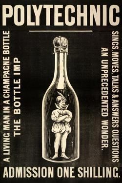 A Living Man in a Champagne Bottle. the Bottle Imp by Henry Evanion