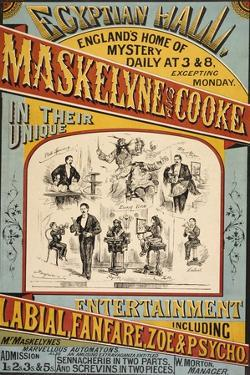 Maskelyne and Cooke's Entertainment at the Egyptian Hall in 1879. England's Home Of Mystery by Henry Evanion