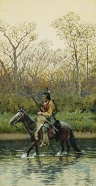 Indian on Horseback, 1905 by Henry F. Farny