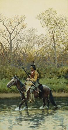 Indian on Horseback, 1905