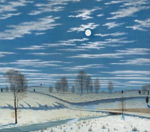 Winter Scene in Moonlight, 1869 by Henry Farrer