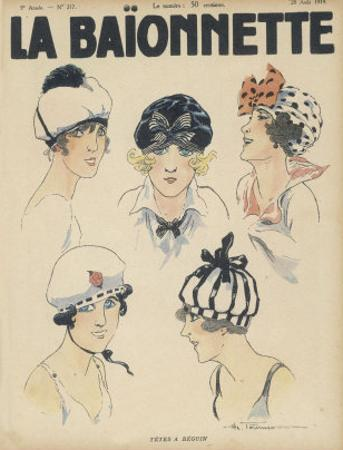 Five Styles of Cap for the Summer Resembling Bathing Caps Berets and Turbans