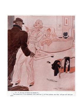 In Bed with Maid by Henry Fournier