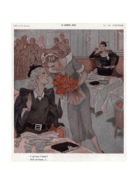 Lesbian Bar, Flowers 1935 by Henry Fournier