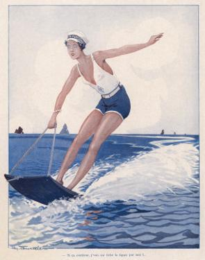 The Unusual Sport of Aquaplaning, a Variation on Water Skiing by Henry Fournier
