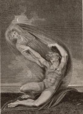 Achilles Tries, in Vain, To Seize Hold of the Ghost of Patroclus by Henry Fuseli