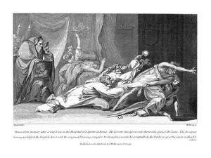 Attempt to Exorcise Evil Spirits Possessing a Patient in San Spirito Hospital, Rome, 1792 by Henry Fuseli