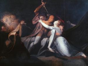 Percival Delivering Belisane..., Exhibited 1783 by Henry Fuseli