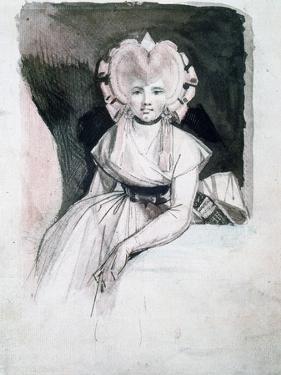 Portrait of Mrs Fuseli, 1741-1825 by Henry Fuseli