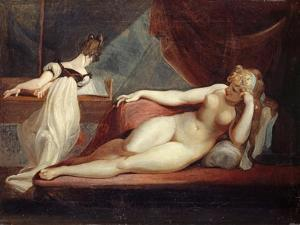 Reclining Nude and Woman at the Piano, 1799-1800 by Henry Fuseli