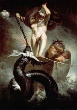 Thor Fighting Midgard Snake, 1788 by Henry Fuseli