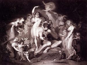 Titania, Bottom and the Fairies, Act 4, Scene 1 of a Midsummer Night's Dream, from 'shakespeare'… by Henry Fuseli