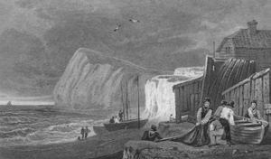 'Shakeseare's Cliff, Dover. Kent', 1831 by Henry Gastineau