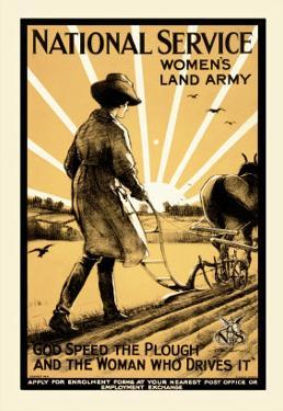National Service Women's Land Army by Henry George Gawthorn