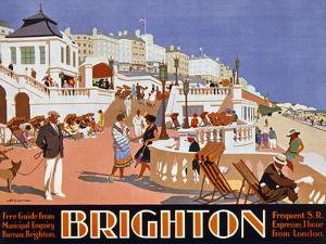 Poster Advertising Travel to Brighton by Henry George Gawthorn