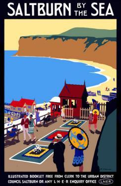 Salturn-By-The-Sea, LNER Poster, 1923-1929 by Henry George Gawthorn