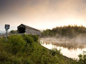 Covered Bridge on Kingston Penninsula, New Brunswick, Canada. by Henry Georgi