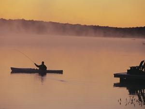 Fly-fishing in Lake Muskoka by Henry Georgi