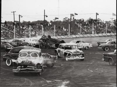 Action at a Demolition Derby