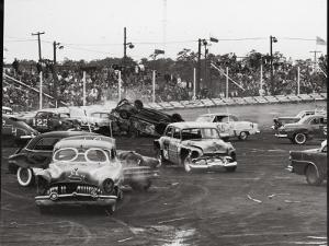 Action at a Demolition Derby by Henry Groskinsky