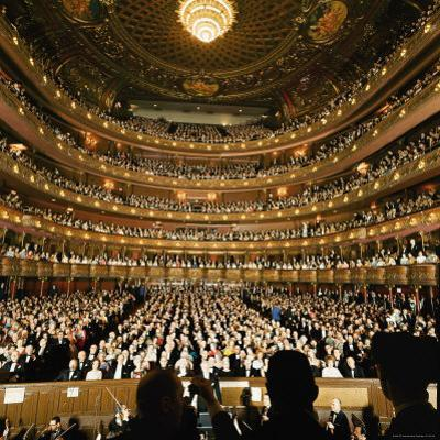 Audience at Gala on the Last Night in the Old Metropolitan Opera House
