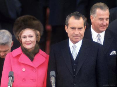New First Lady Patricia Nixon with Her Husband, President Richard M. Nixon at His Inauguration
